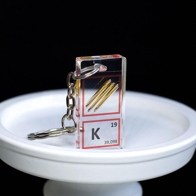 potassium keychain, element keychain, metal keychains, periodic table elements keychain, periodic table gift, periodic table gadgets, elements gift