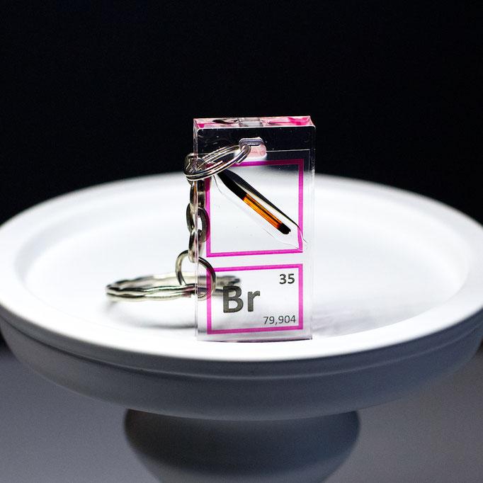 bromine keychain, element keychain, metal keychains, periodic table elements keychain, periodic table gift, periodic table gadgets, elements gift