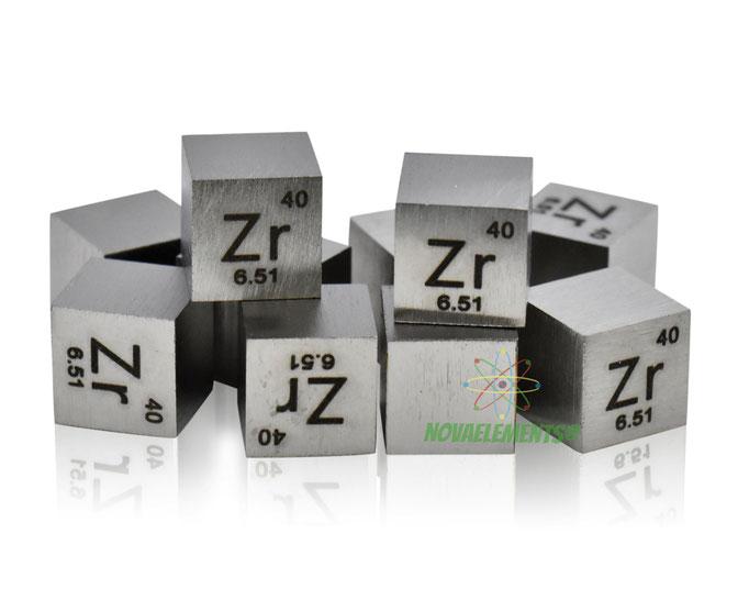zirconium density cube, zirconium metal cube, zirconium metal, nova elements zirconium, zirconium metal for element collection