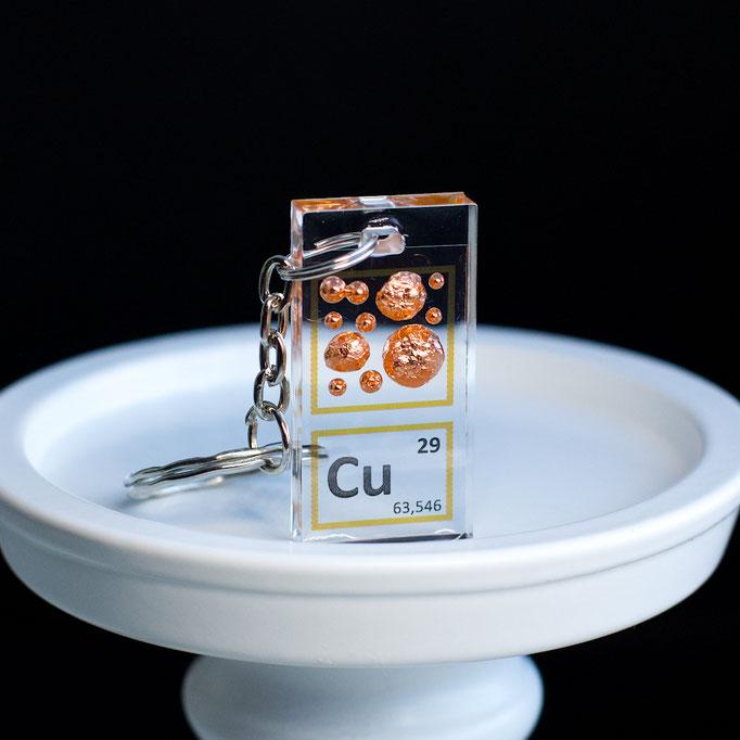 copper keychain, element keychain, metal keychains, periodic table elements keychain, periodic table gift, periodic table gadgets, elements gift
