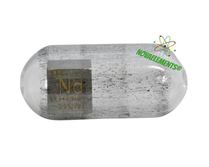 neodymium density cube, neodymium metal cube, neodymium metal, nova elements neodymium, neodymium metal for element collection, neodymium cubes, neodymium metal