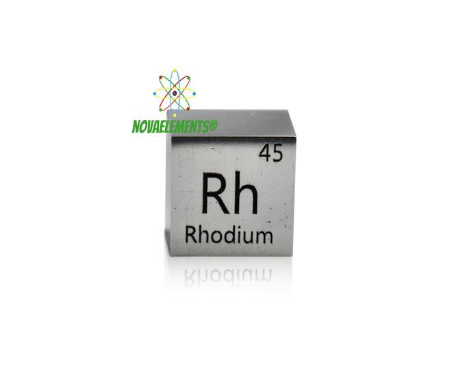 rhodium density cube, rhodium metal cube, rhodium metal, nova elements rhodium, rhodium metal for element collection, rhodium metal for investment, rhodium cube, rhodium ingot, rhodium bar