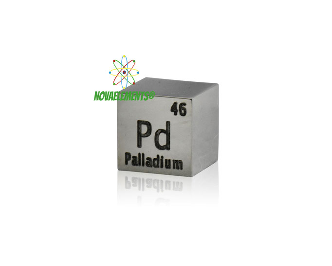 palladium density cube, palladium metal cube, palladium metal, nova elements palladium, palladium metal for element collection, palladium for investment