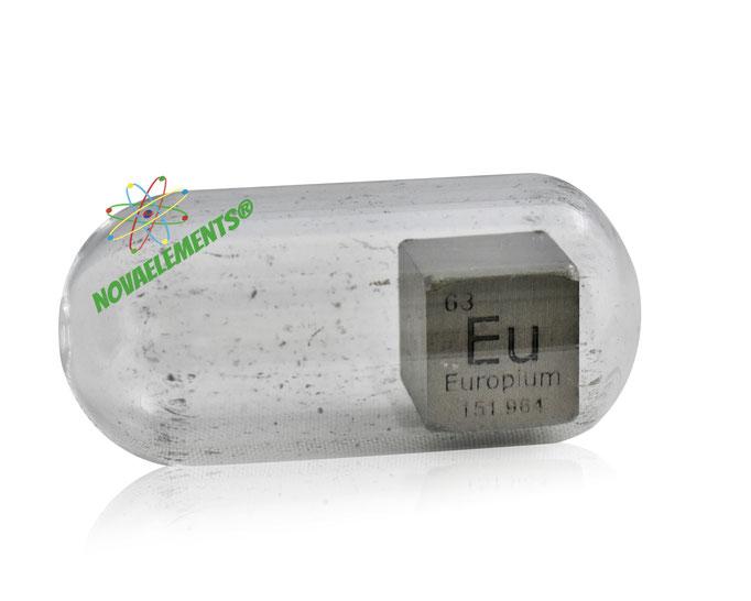 europium density cube, europium metal cube, europium metal, nova elements europium, europium metal for element collection, europium cubes, europium metal