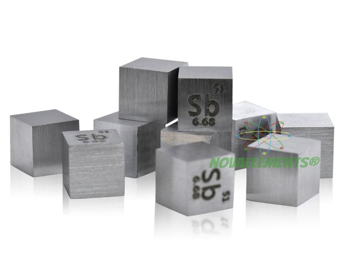 antimony density cube, antimony metal cube, antimony metal, nova elements antimony, antimony metal, nova elements antimony