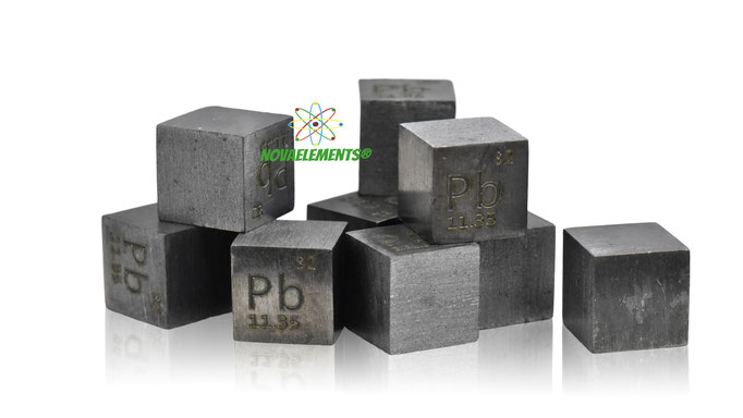 lead density cube, lead metal cube, lead metal, nova elements lead, lead metal for element collection, lead cubes, lead metal