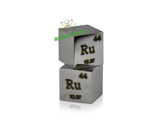 ruthenium density cube, ruthenium metal cube, ruthenium metal, nova elements ruthenium, ruthenium metal for element collection, ruthenium for investment