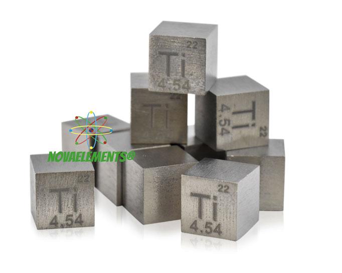 titanium density cube, titanium metal cube, titanium metal, nova elements titanium, titanium metal for element collection