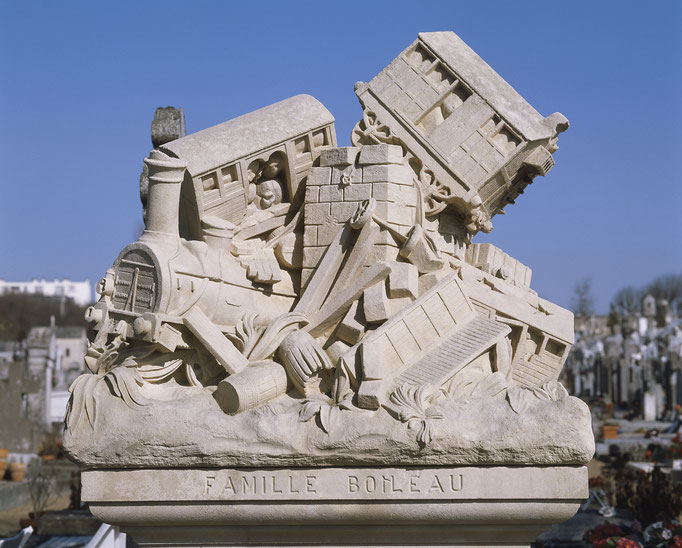 Tombe de François Boileau (1845-1878), cimetière La Salle (Tours)  Cote du cliché : ALC86-1214