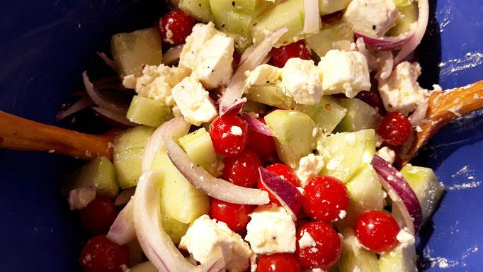 05.09. Immer wieder gut: griechischer Feta-Salat