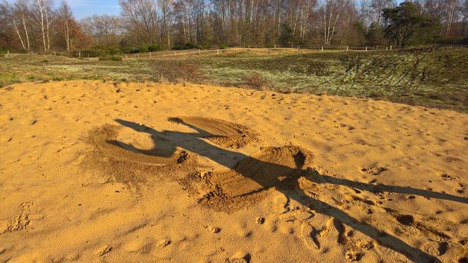 Ein Sand-Engel