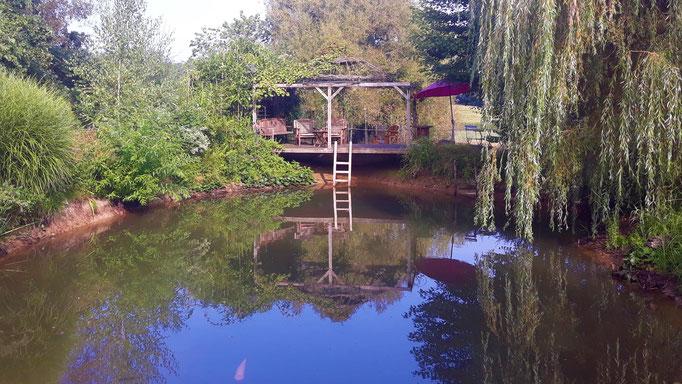 28.08. Blick über den Teich