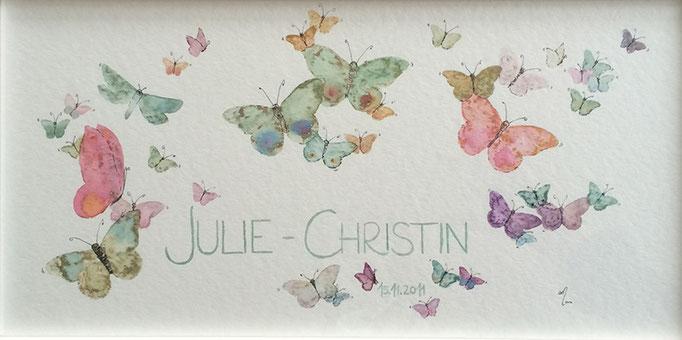 Namensbild  ·  ausschließlich als individuelles Auftragswerk  ·  Aquarell  ·  Tusche  ·  20 x 40 cm  ·  300g Aquarellpapier  ·  Euro 85