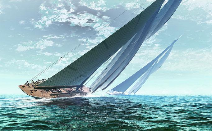 コロンビア 130年前のアメリカズカップ艇