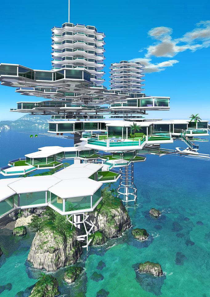 洋上のスカイマンション