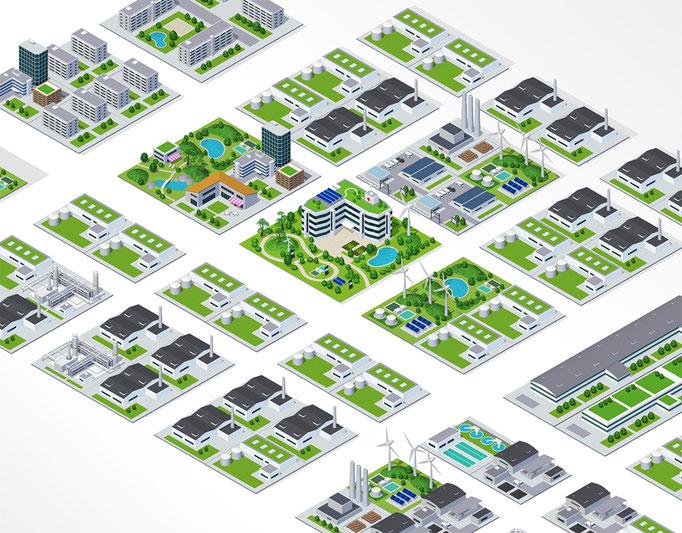 リーテムの街構成図