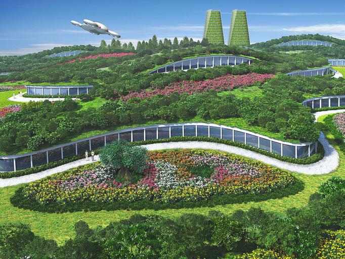 緑の丘の建築