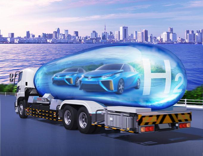 水素タンクトラック