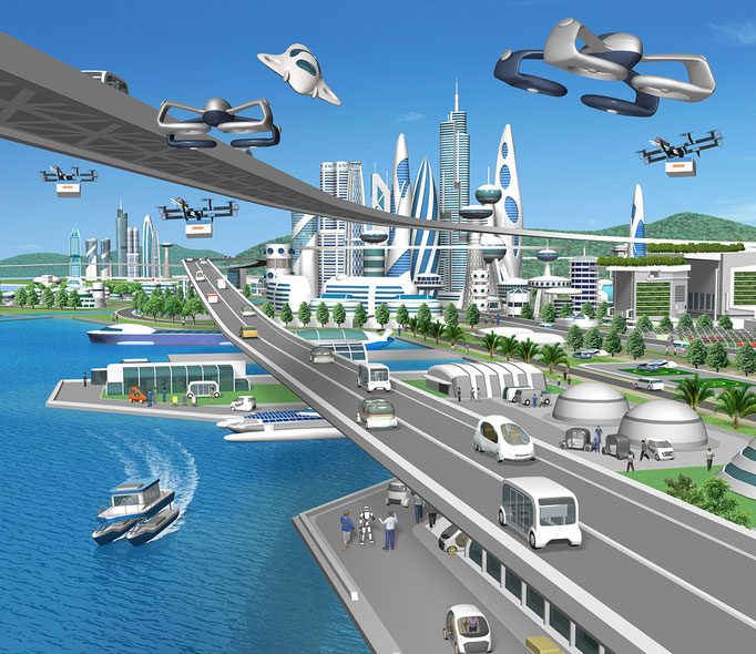 未来の街交通 トヨタ社内報