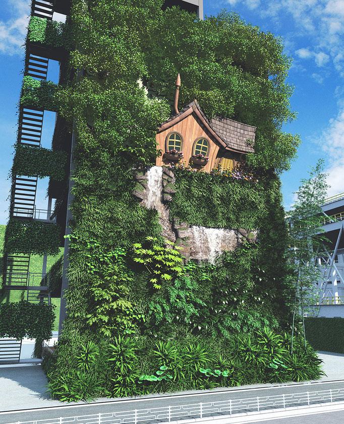 緑の壁メルヘン