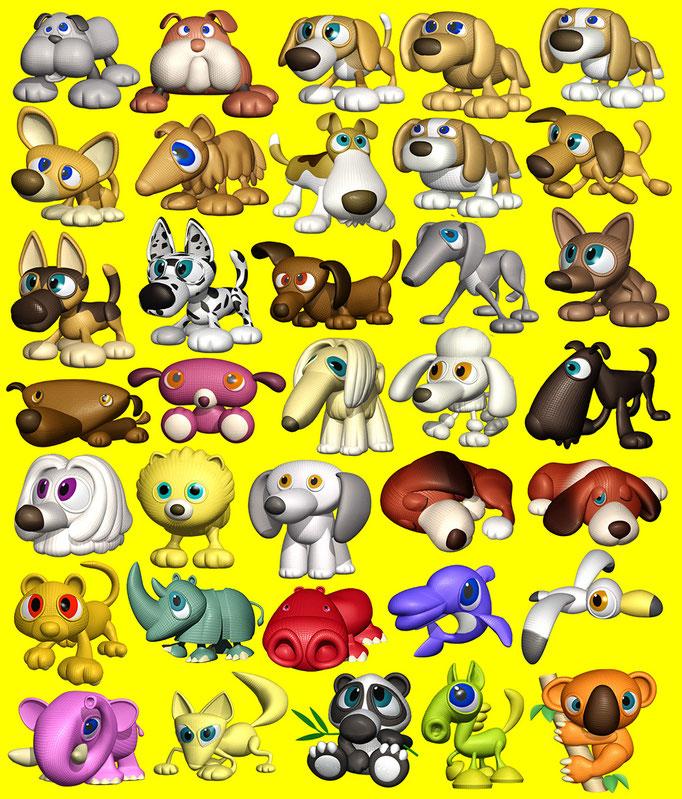 犬のキャラクター他いろいろ