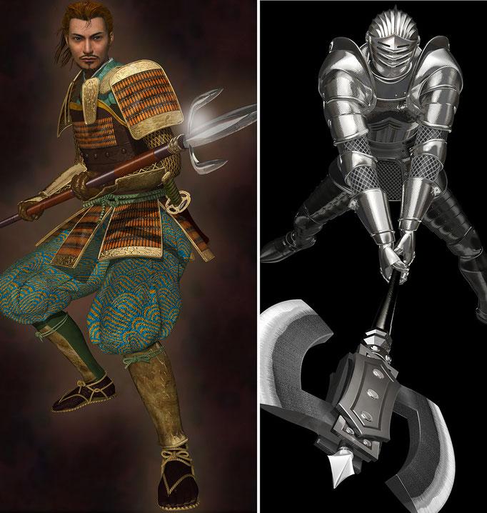 半蔵と鎧騎士