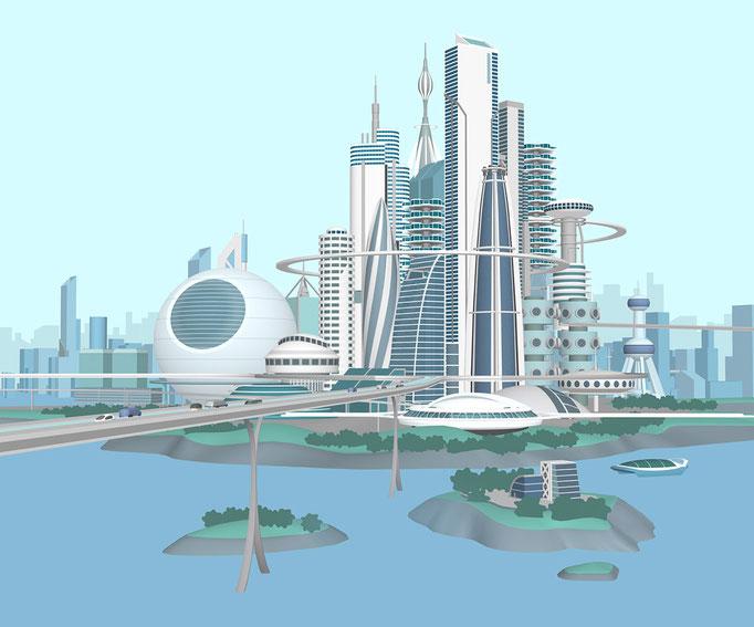 近未来都市 マイナビガイドブック