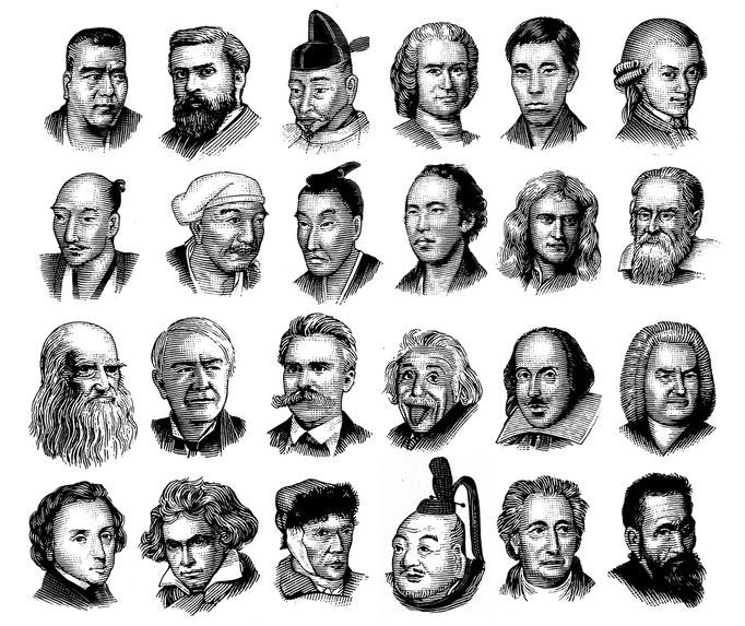 世界の偉人達