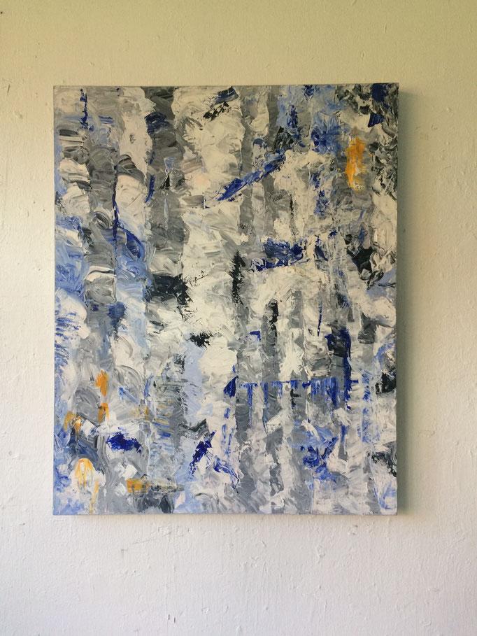 """""""Friendship"""", acrylic on canvas. 80x100 cms. 2017."""