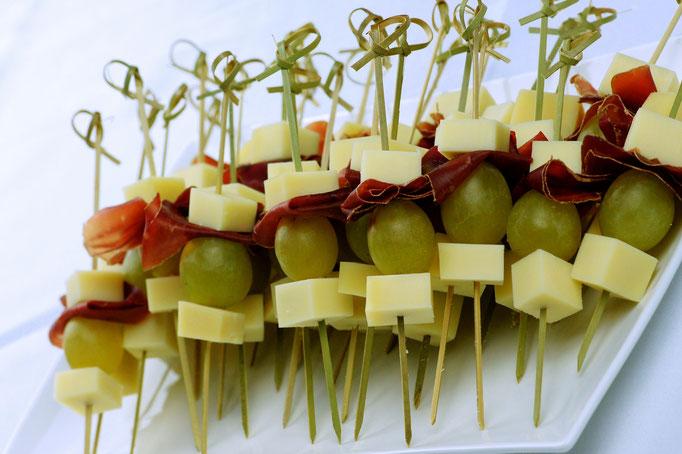 Käse-Trauben-Spiessli