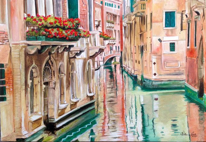 Paisaje veneciano I 50 x 70 cm.