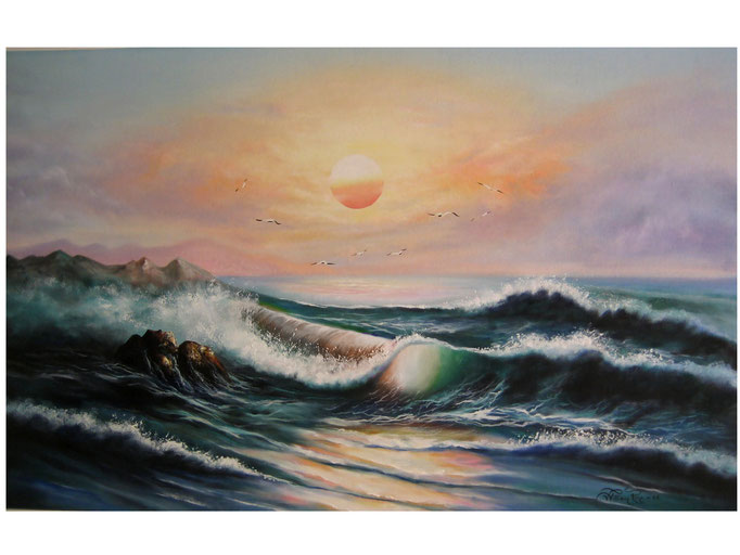 """Marina 2006"" 80 x 120 cm."
