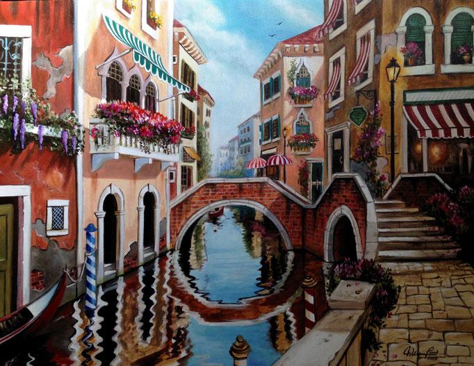 Paisaje veneciano II 50 x 70 cm.