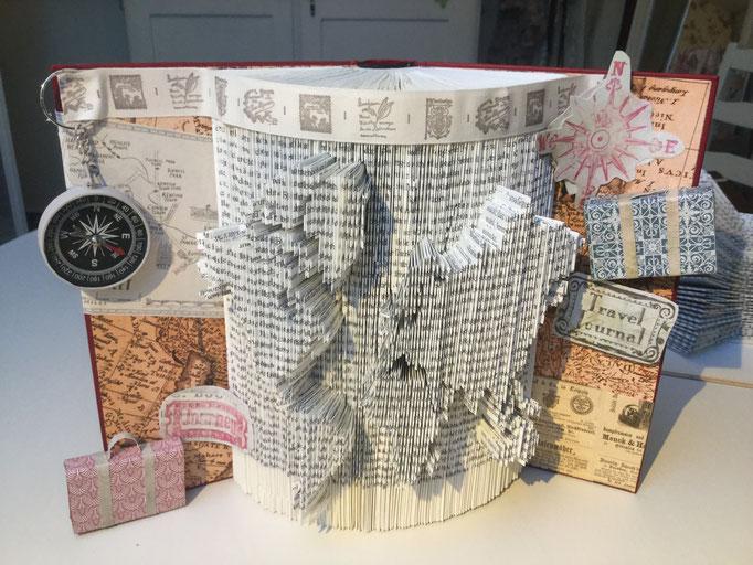 Book Folding Art Kyra`s World Map