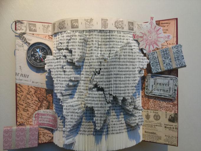 Book folding art creative inspirationss webseite world map in progress bcher falten weltkarte book folding world map gumiabroncs Image collections