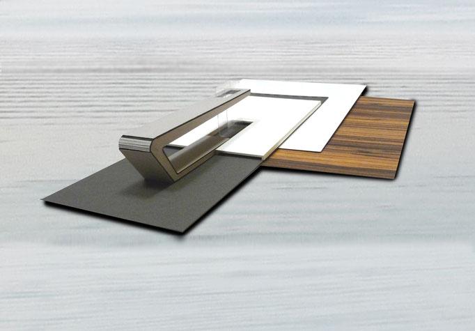 Arbeitsmodell mit Materialcollage