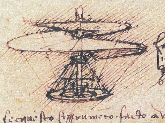 Da Vinci 1487 - 1490 Luftschraube