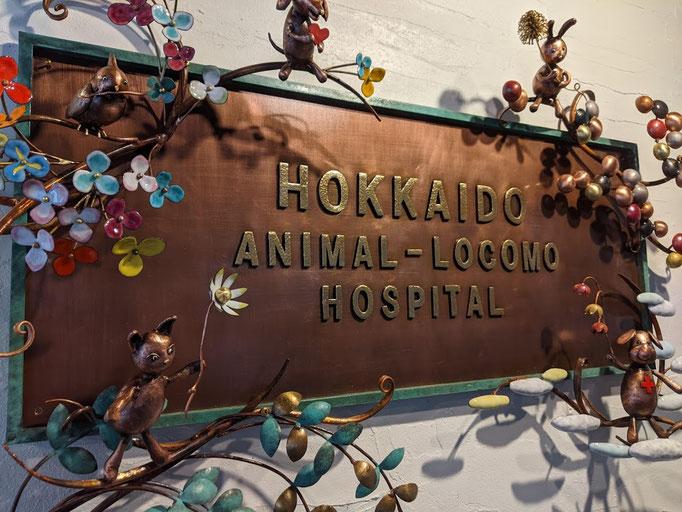 銅人形・動物看板 【中央区 北海道動物運動器病院様】