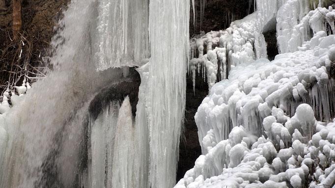 Österreich, Eisfall bei Molln