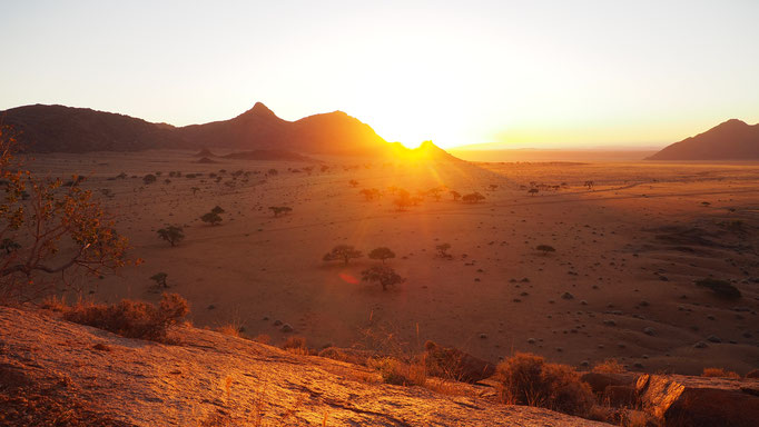 Namibia, Sonnenuntergang in den Tiras Mountains