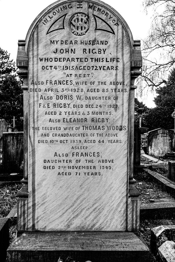 Eleanor Rigby´s Grave, St. Peter's Parish Church Woolton, Liverpool