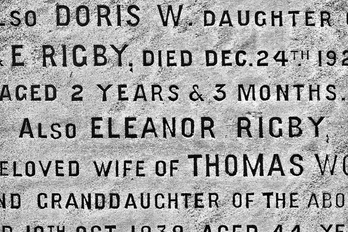 Eleanor Rigby´s Grave - Detail,  St. Peter's Parish Church Woolton, Liverpool