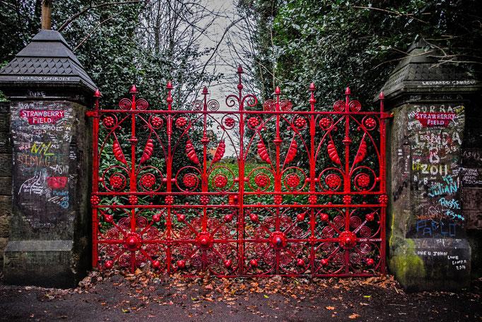 Straweberry Field Gate, Woolton, Liverpool