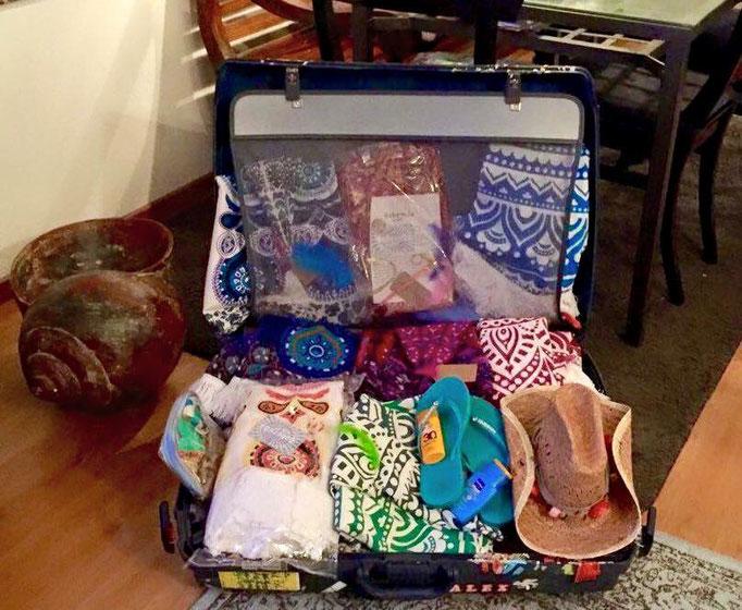 Vakantie koffer roundie inpakken