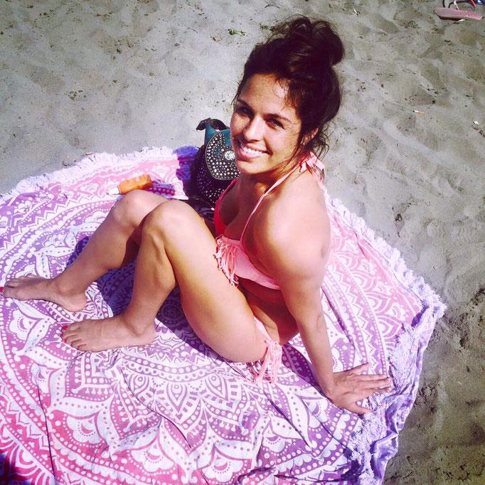 Kelly Beach Roundie Roze ombre franjes Spanje