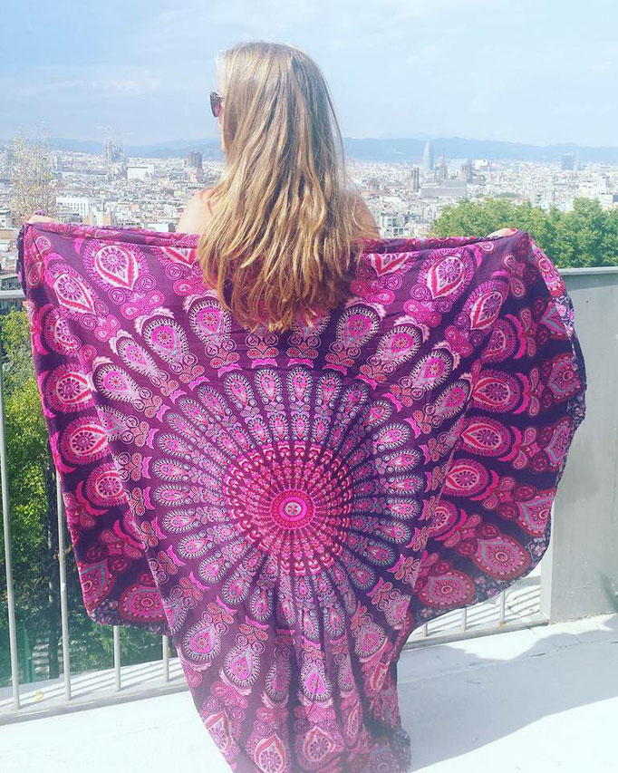 Barcelona Roundie Purple Paradise