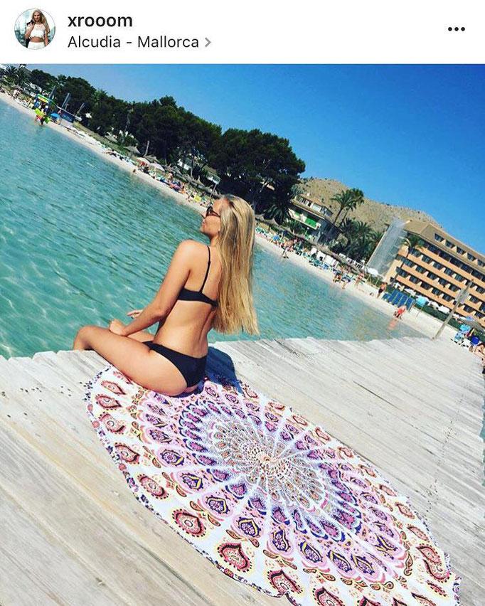 Romy aan het strand Mallorca