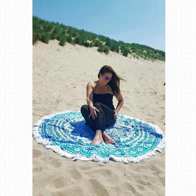 Beachtowel roundie Blue Ombre