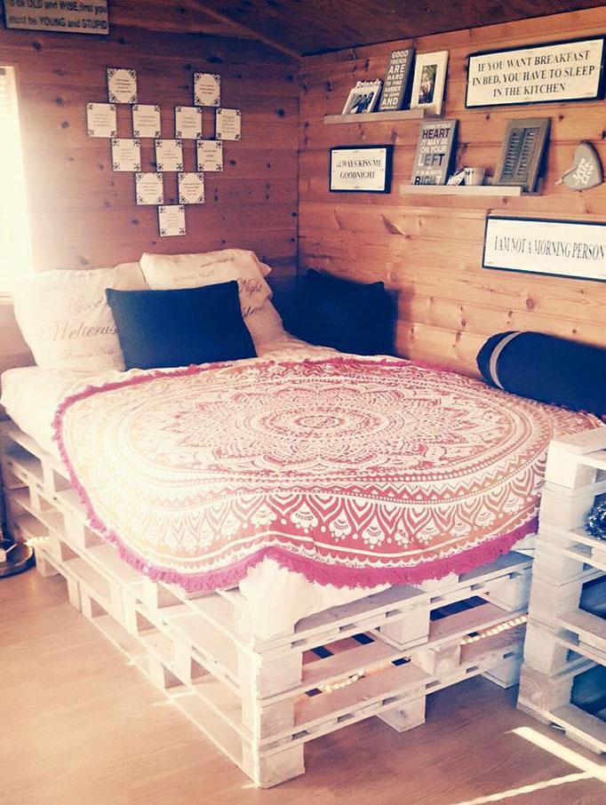 Orange Ombre roundie bedsprei #inspiratie