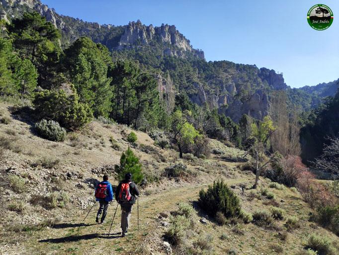 Hacia el sendero y tranco de las Anchuricas